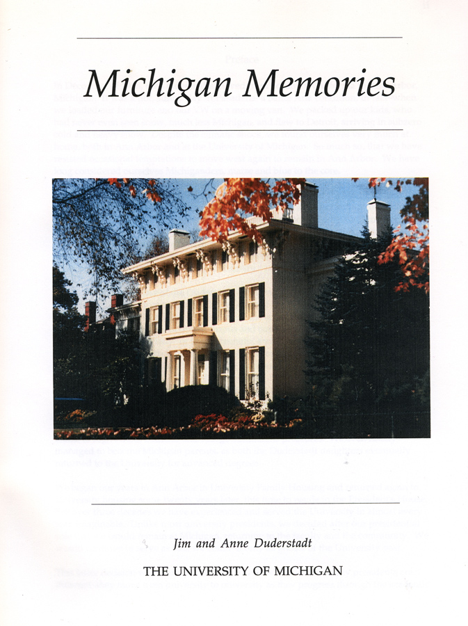 Michigan Memories cover