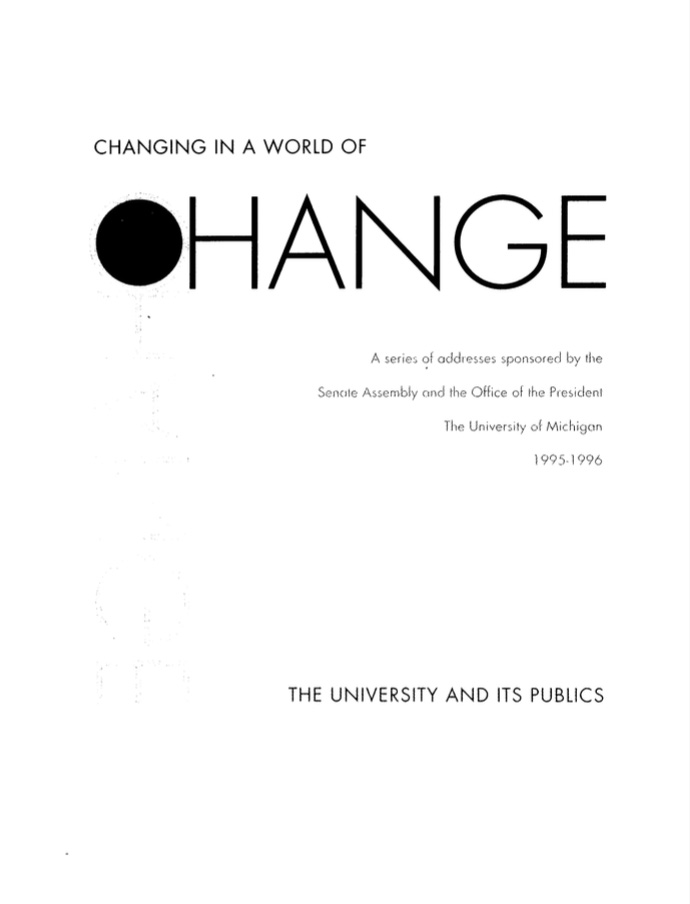 Changing in World of Change Book cover